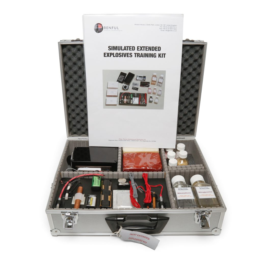 extended explosives simulant training kit