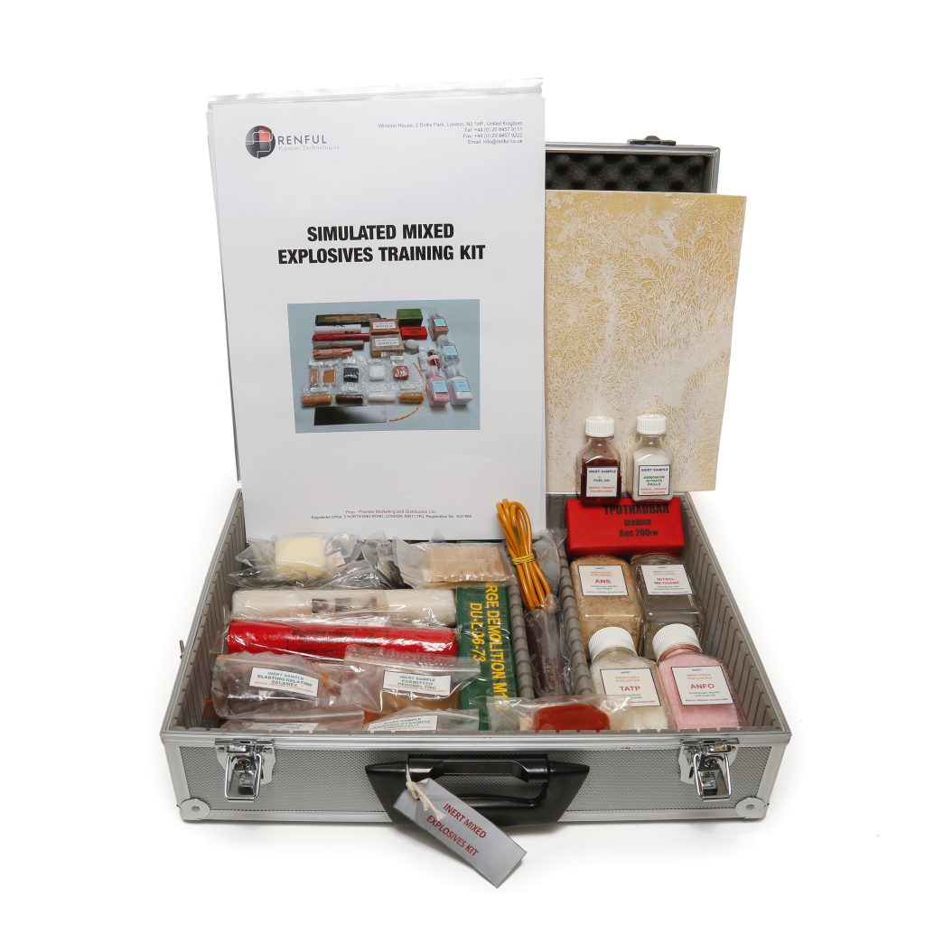 mixed explosives simulant training kit